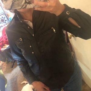 Vintage Jamie Sadoch Leather Riding Shirt